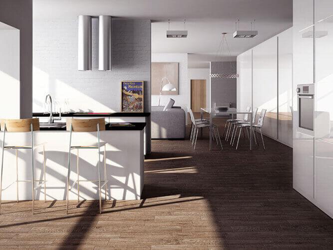 Suelos de interior de cocinas y ba os suelos de madera - Suelos de cocina modernos ...